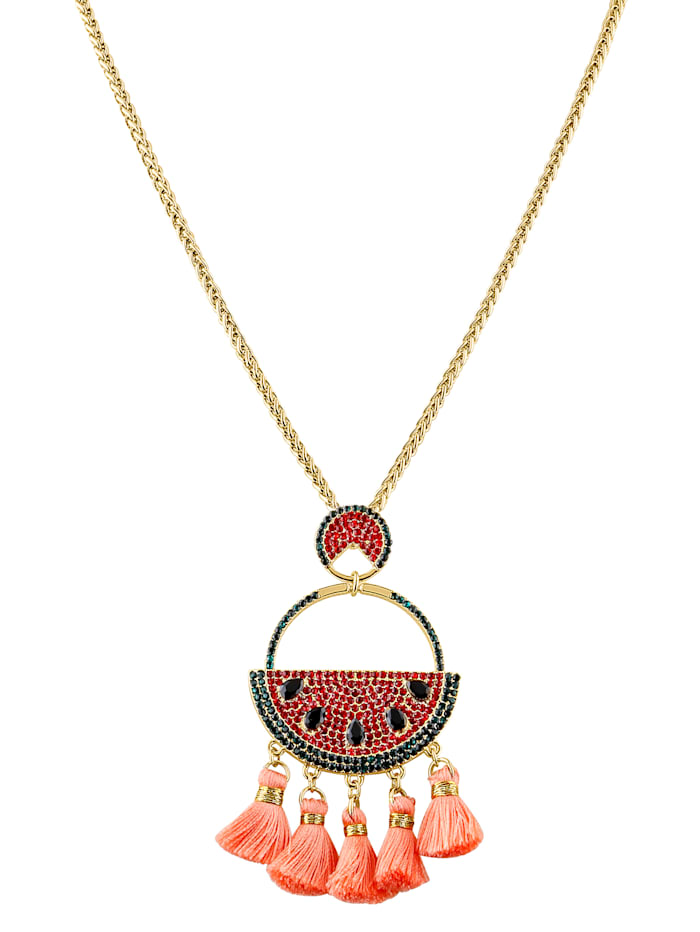 Necklace with melon pendant