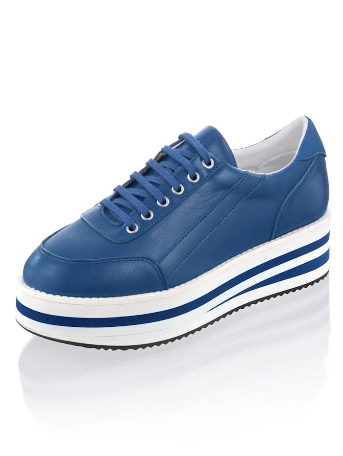 Alba Moda Sneaker mit sportlichen Nähten, Blau