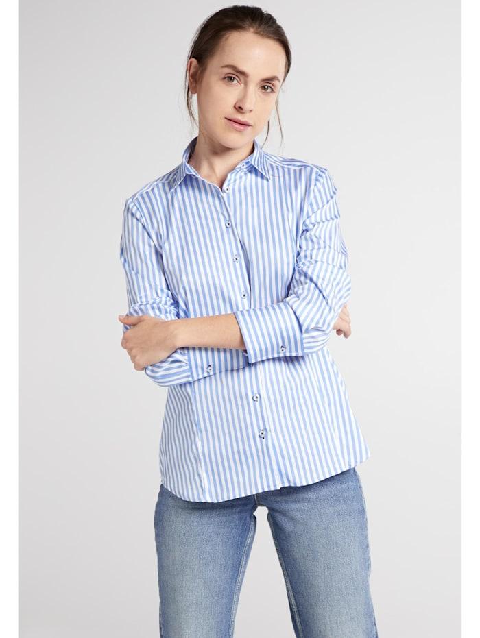 Eterna Eterna Langarm Bluse MODERN CLASSIC, hellblau/weiss