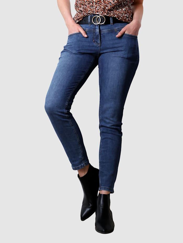 Laura Kent Jeans mit dekorativer Naht, Dark blue