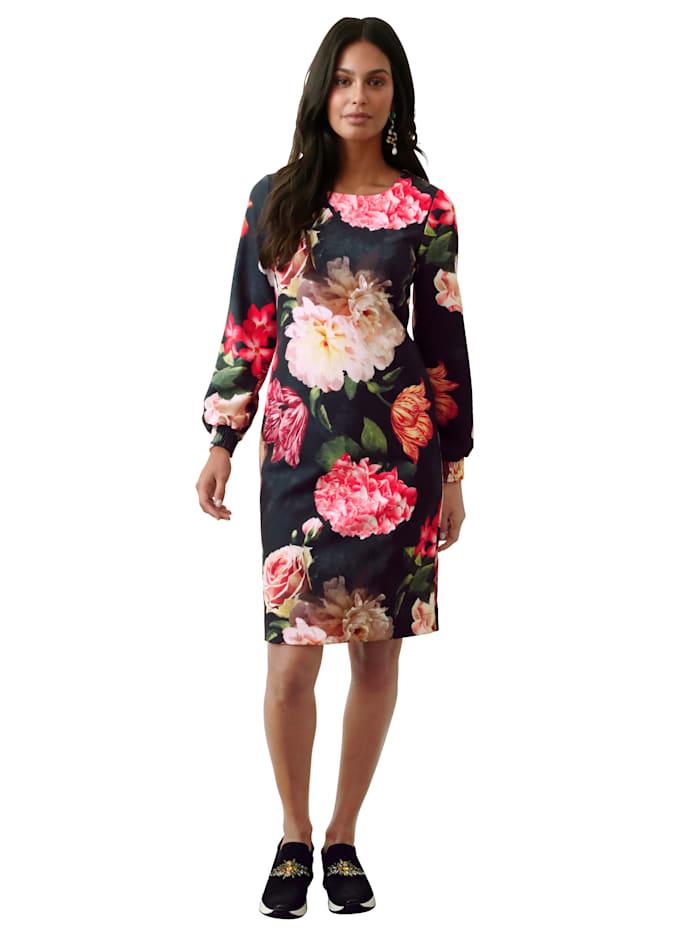 AMY VERMONT Jurk met bloemenprint, Zwart/Multicolor