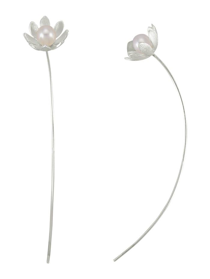 AMY VERMONT Boucles d'oreilles avec perles de culture d'eau douce, Blanc