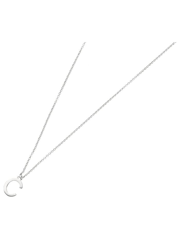 Smart Jewel Collier Buchstabe C, Silber 925, Silber