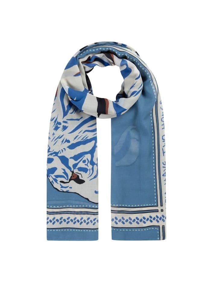 Codello Tiger-Schal aus recyceltem Polyester, jeans blue
