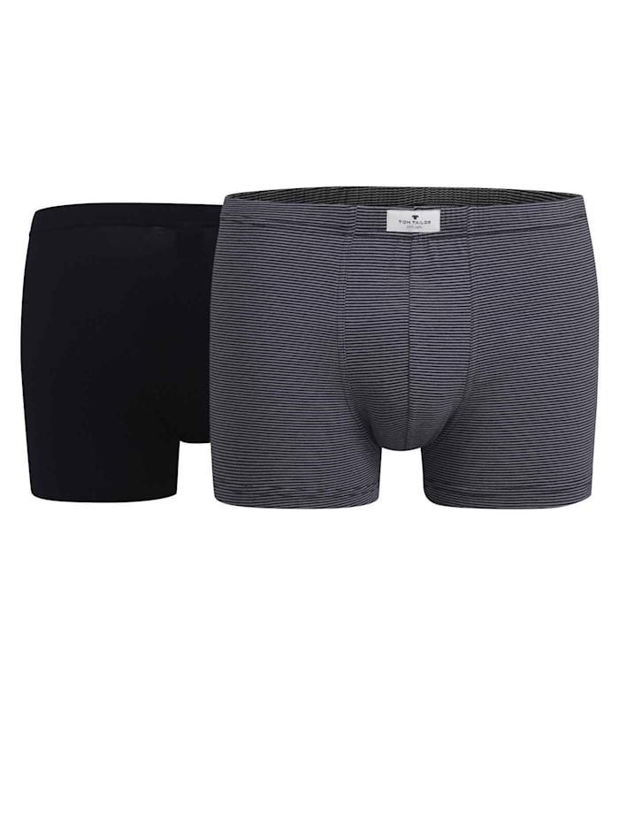Tom Tailor Pants im Doppelpack STANDARD 100 by OEKO-TEX zertifiziert, Blue-Dark-Horizontal-Stripe