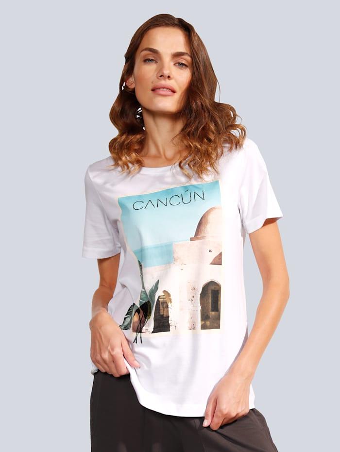 MARGITTES T-Shirt mit schönem Motiv, Weiß