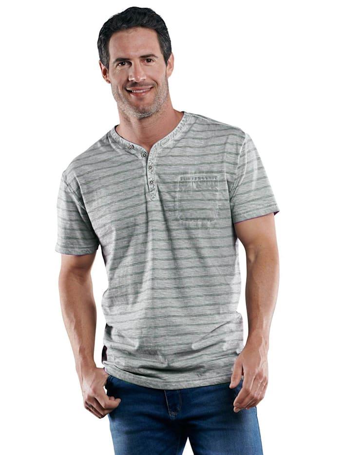 Engbers Henley T-Shirt, Zementgrau