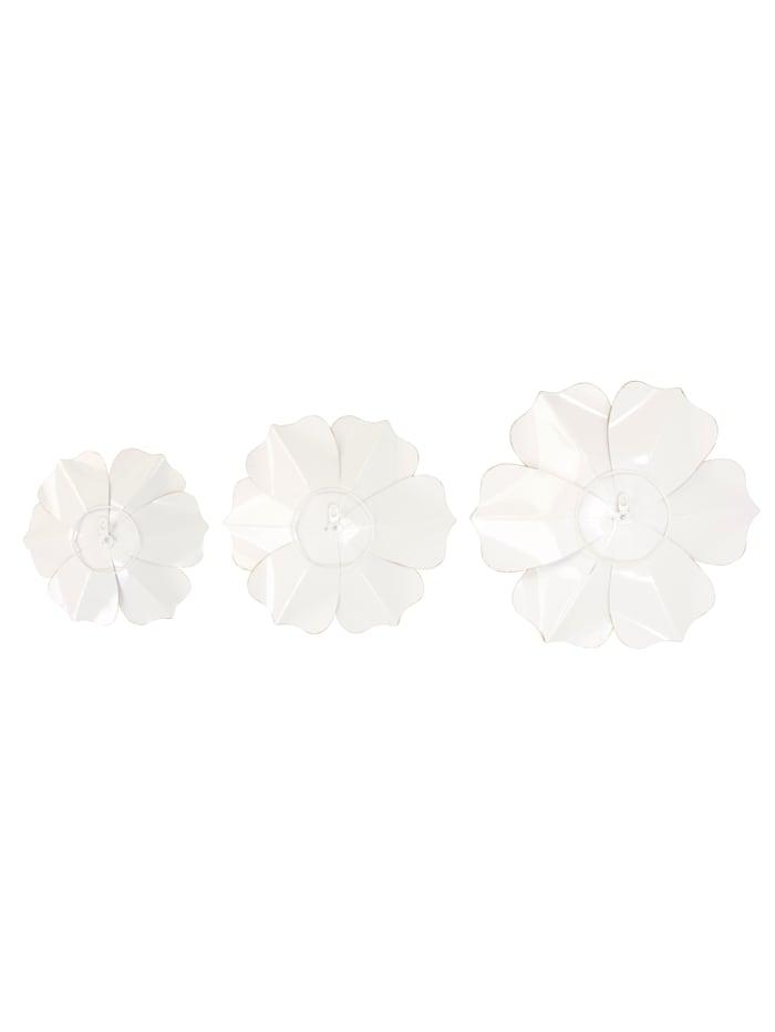 Wand-Deko-Set, 3-tlg., Blüten