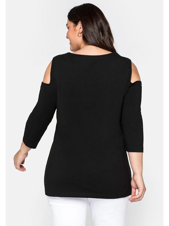 sheego by Joe Browns Shirt mit 3/4-Ärmeln und offenen Schultern