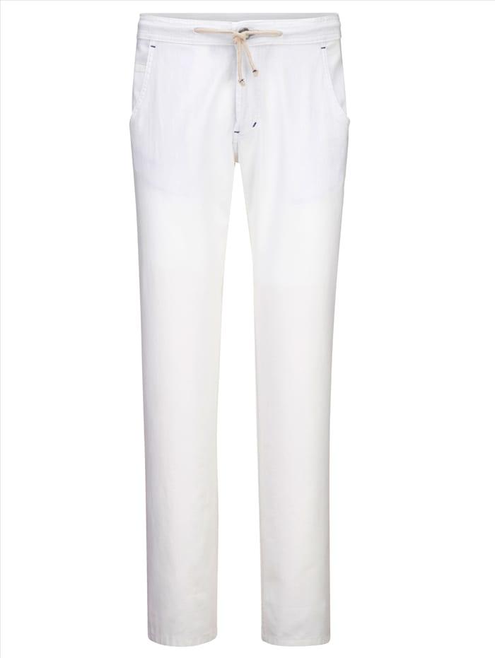 BABISTA Pantalon dans une matière estivale, Blanc