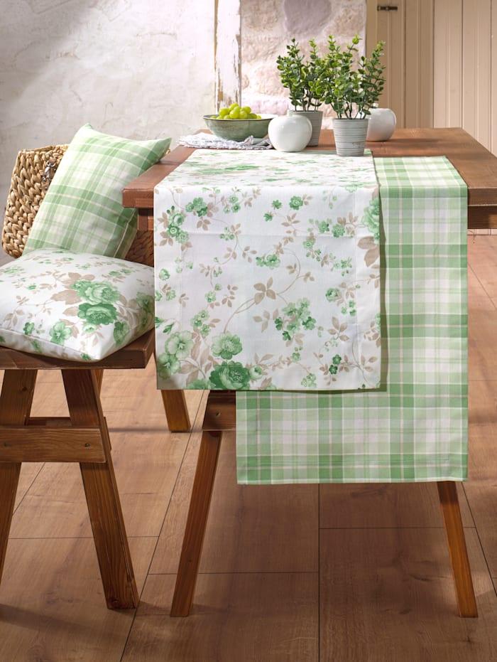 Hossner Tischwäsche 'Olivia', ecru-grün