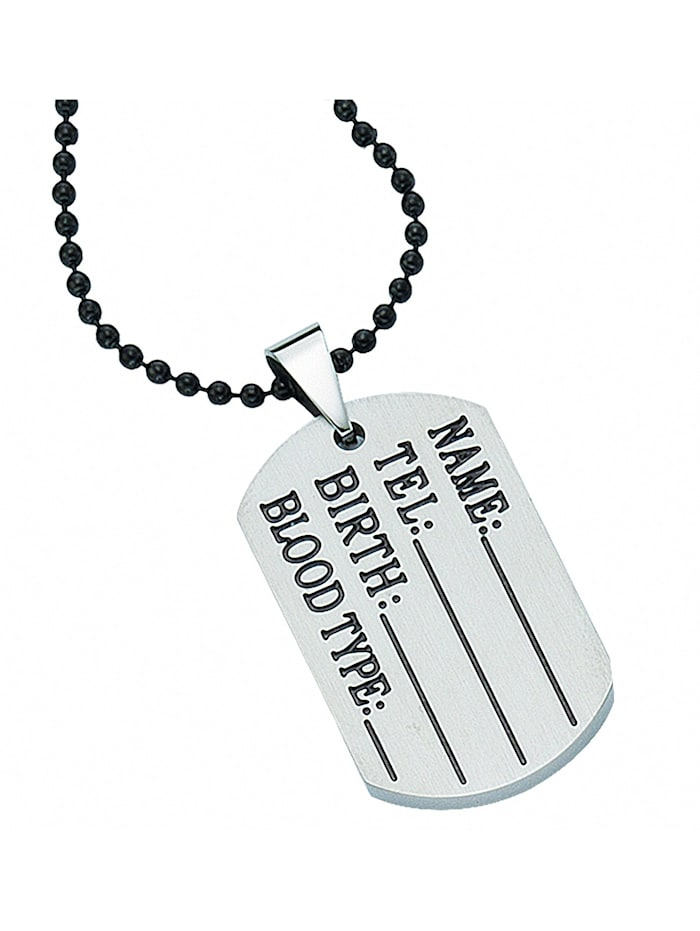 1001 Diamonds Herren Edelstahlschmuck Edelstahl Kugel Halskette 50 cm Ø 2 mm, silber