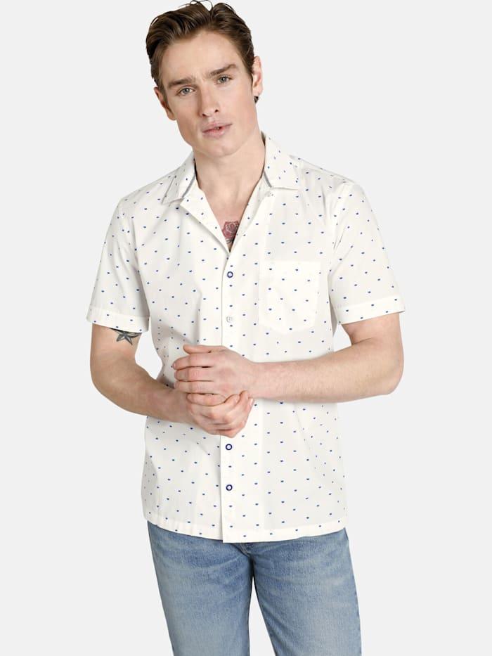 Shirtmaster Shirtmaster Kurzarmhemd viennamelange, weiß