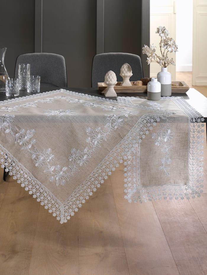 Webschatz Tischwäsche 'Mandy', natur weiß