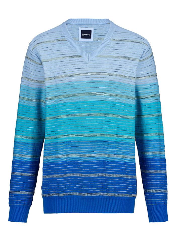 BABISTA Pullover mit effektvollem Farbverlauf, Türkis/Blau