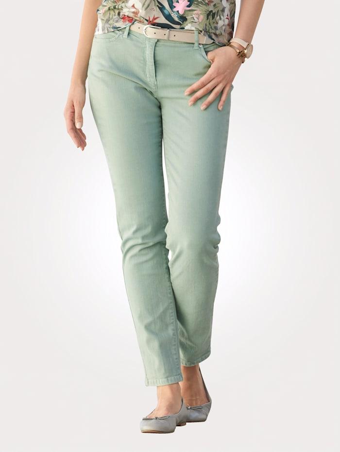 Toni Jeans colored denim, Lindgrün