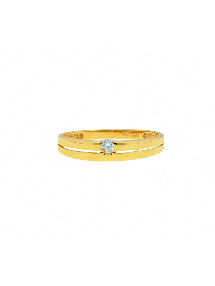 1001 Diamonds Damen Goldschmuck 333 Gold Ring mit Zirkonia, gold