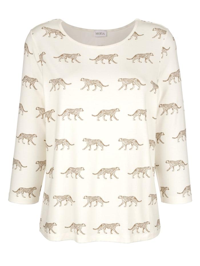 T-shirt à motif léopard