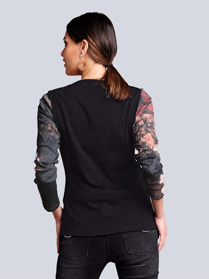 Shirt in patchworklook