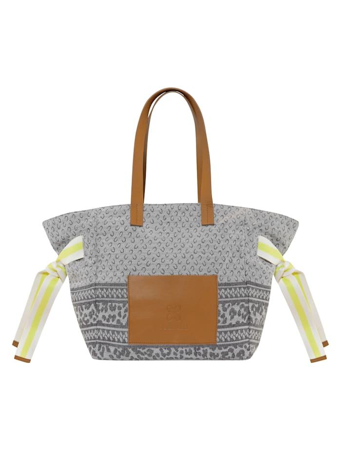 Codello Canvas-Shopper mit Logo-Print, light grey