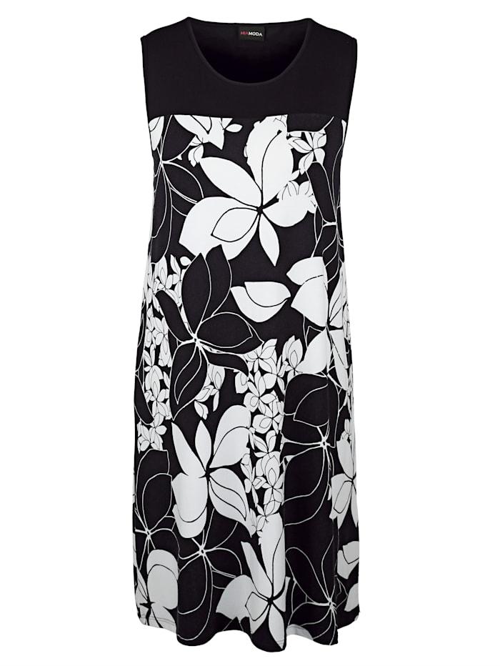 Jerseykleid mit großem Blumenprint