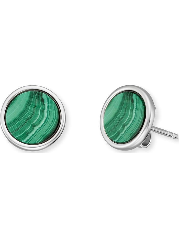 Engelsrufer Engelsrufer Damen-Ohrstecker Ohrstecker Healing Stone 925er Silber Farbstein, silber/grün