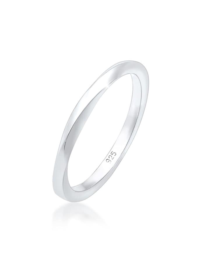 Elli Ring Basic Bandring Gedreht Klassisch Trend 925 Silber, Silber
