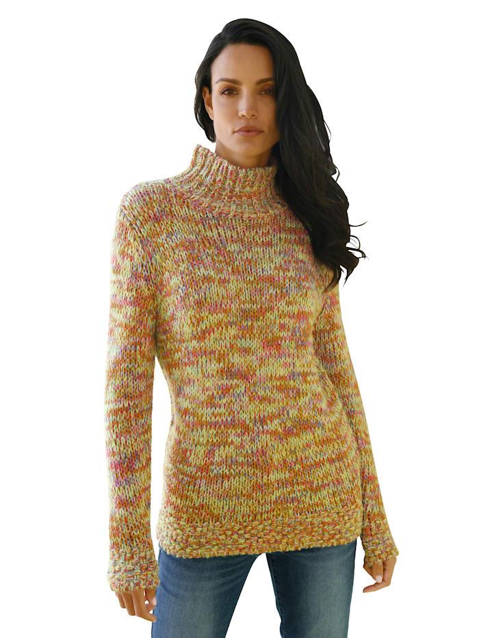 AMY VERMONT Pullover in effektvollen Farben, Gelb/Multicolor