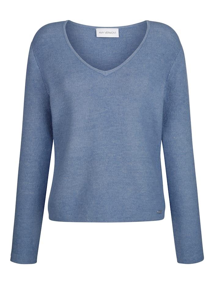 Pullover aus melierem Garn