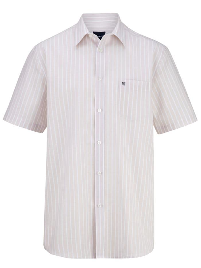 BABISTA Overhemd van zomers lichte stof, Beige/Wit