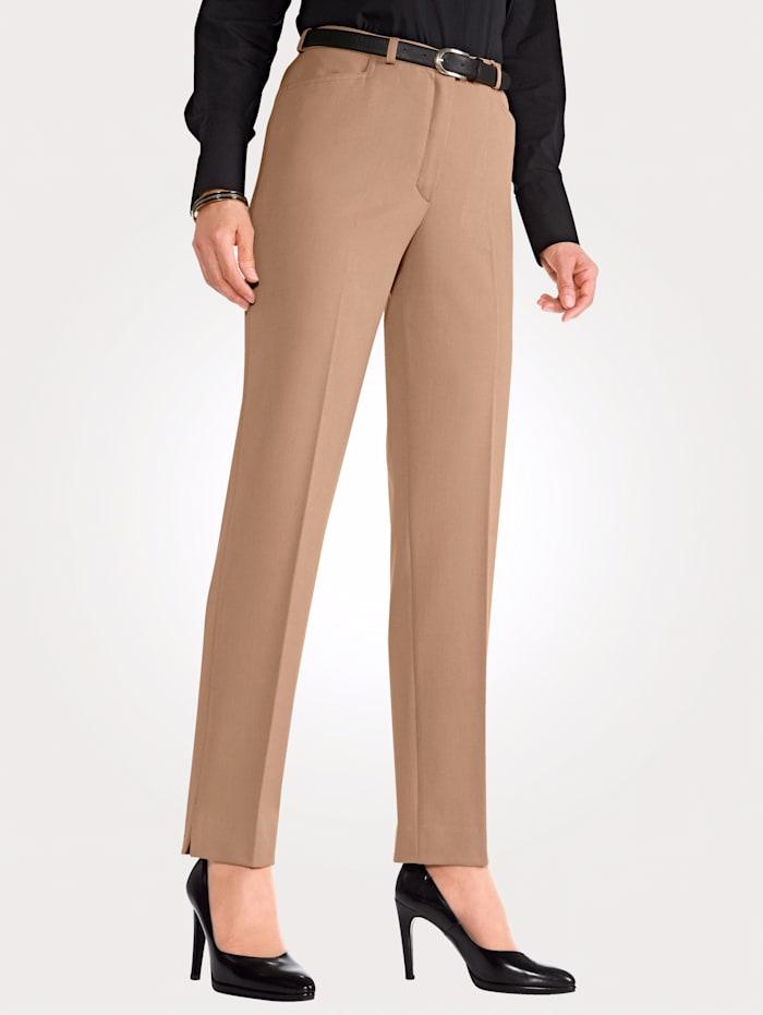 MONA Pantalon en matière stretch, Beige