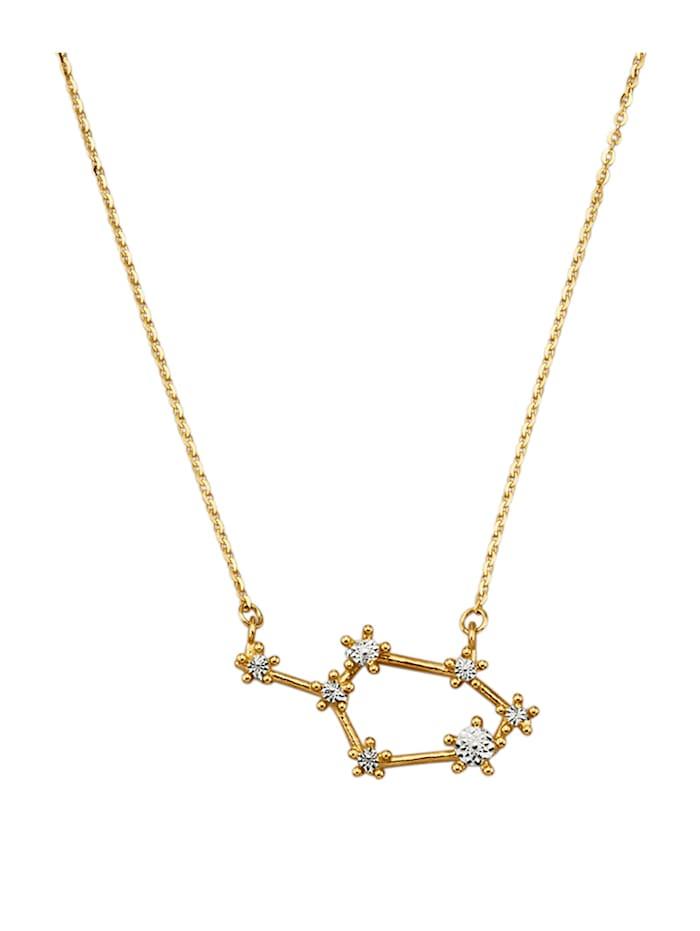 "Herzkarte Collier constellation ""Sagittaire"" en or jaune 585, Coloris or jaune"