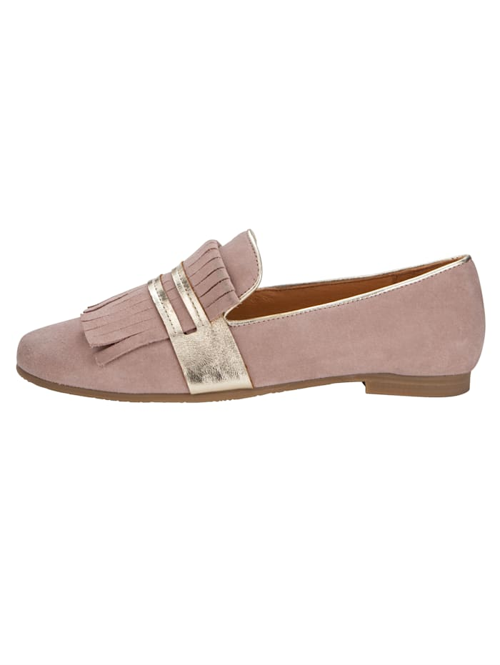 Loafer mit Zierfransen am Blatt