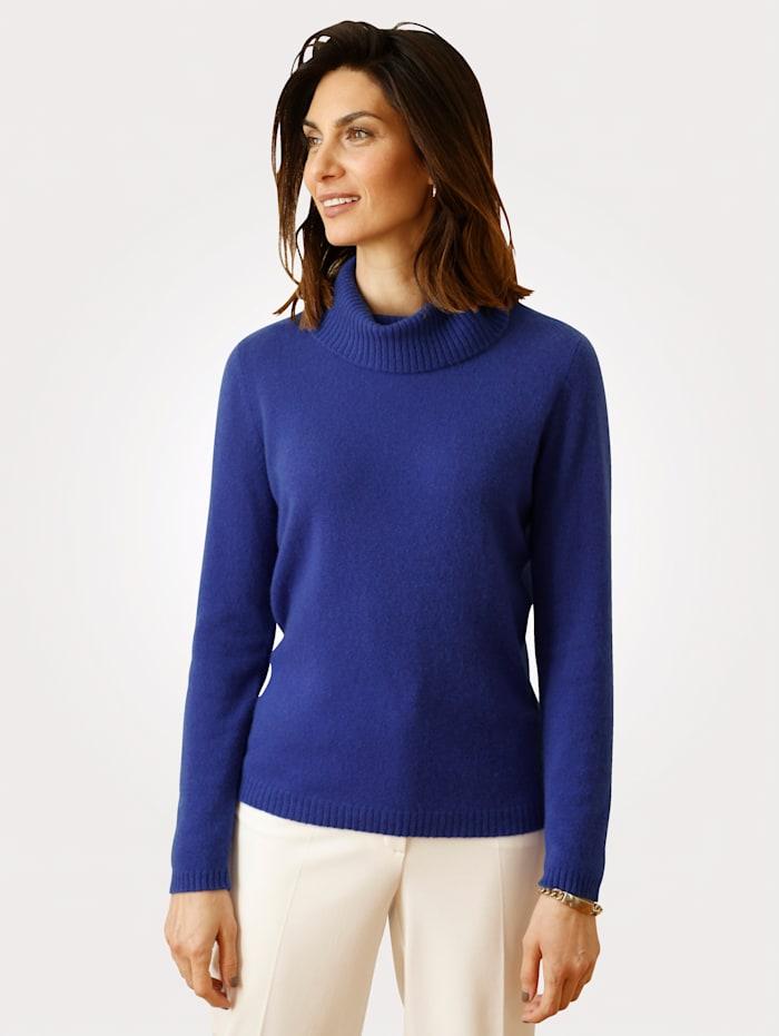 MONA Pull-over à col roulé en Good-Cashmere, Bleu roi