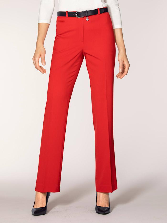 Artigiano Pantalon en matière bi-extensible, Rouge