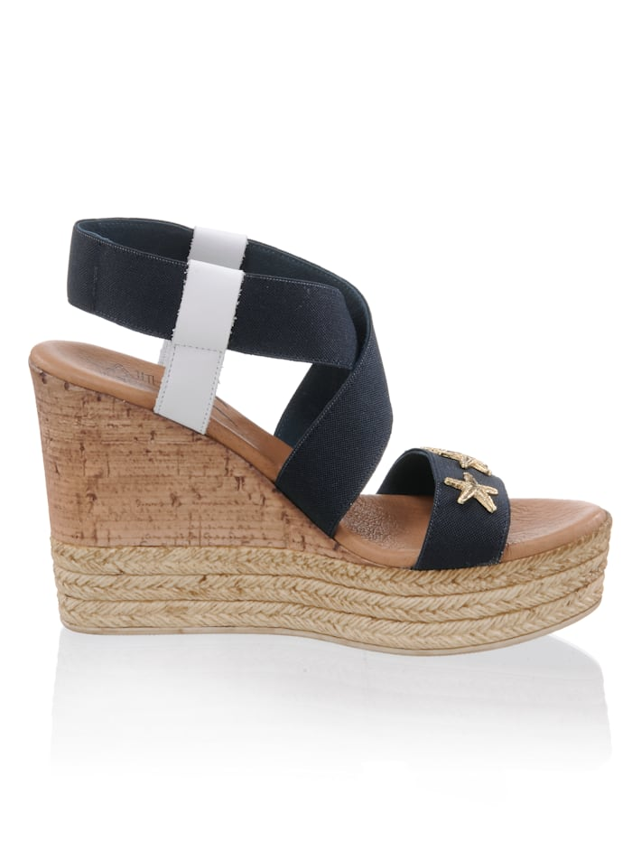 Sandalette aus elastischem Textil