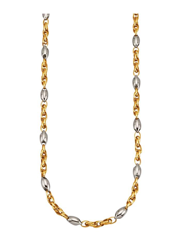 Diemer Gold Collier in Weißgold 585, Gelbgoldfarben