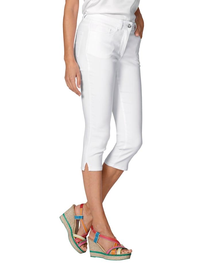 AMY VERMONT Capri džínsy v elastickej kvalite, Biela