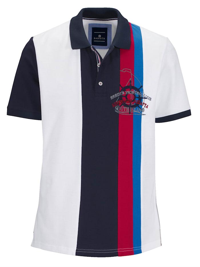 Poloshirt met gekleurde inzetten