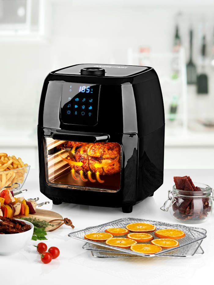 GOURMETmaxx Friteuse à air chaud GOURMETmaxx 9 en 1, affichage numérique, Noir