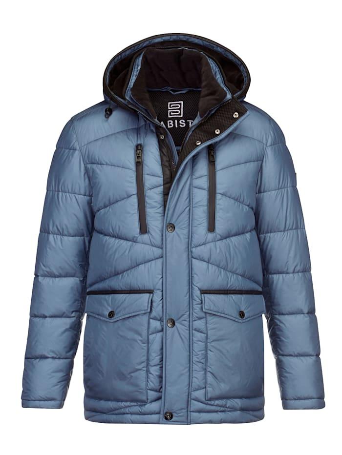 BABISTA Gewatteerde jas met warme wattering, Ijsblauw