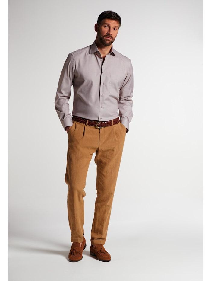 Eterna Eterna Langarm Hemd COMFORT FIT, beige/braun