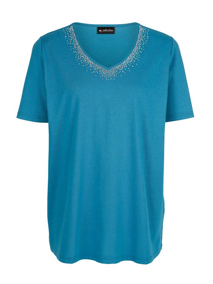 Shirt mit schöner Steinchendeko am Ausschnitt