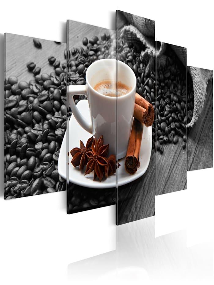 artgeist Wandbild Cinnamon relaxation, Braun,schwarz-weiß,Weiß