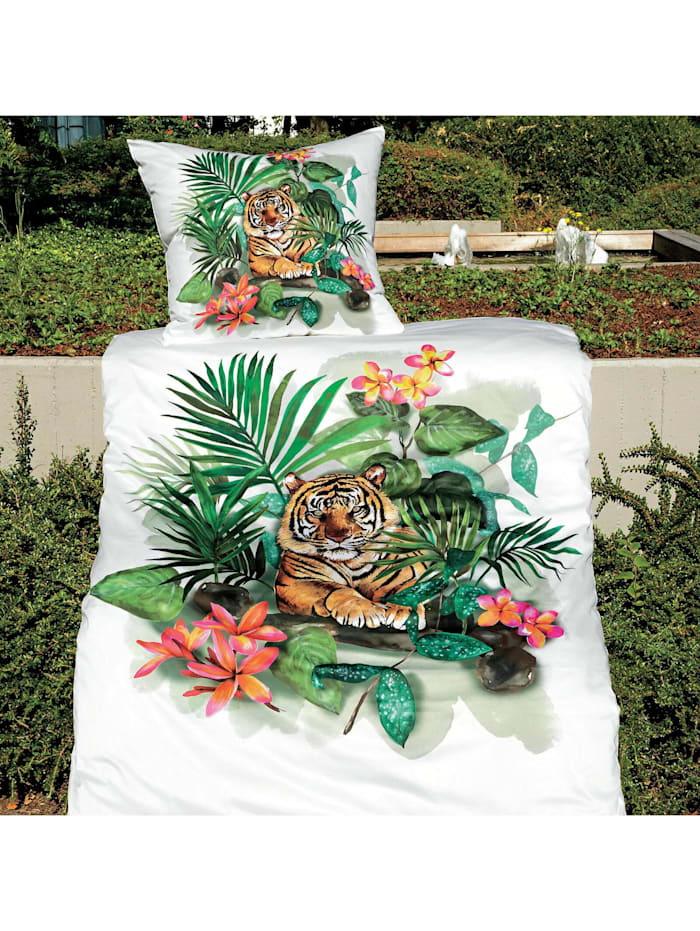 Janine Mako-Satin Bettwäsche modern art 42072-06 botanik, botanik