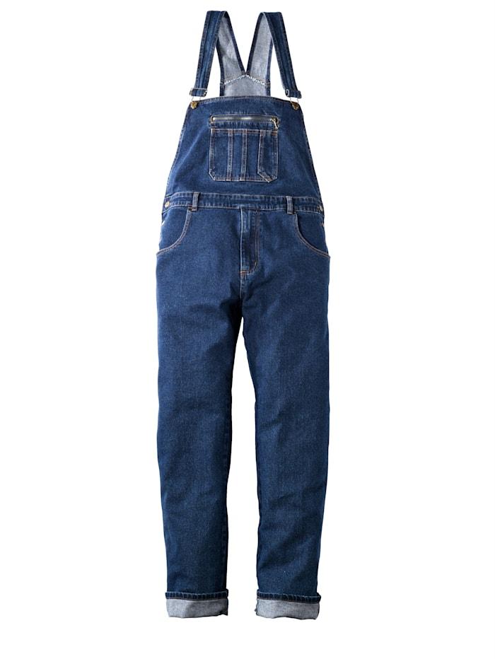 Men Plus Jeans-Latzhose Comfort Fit, Blue stone