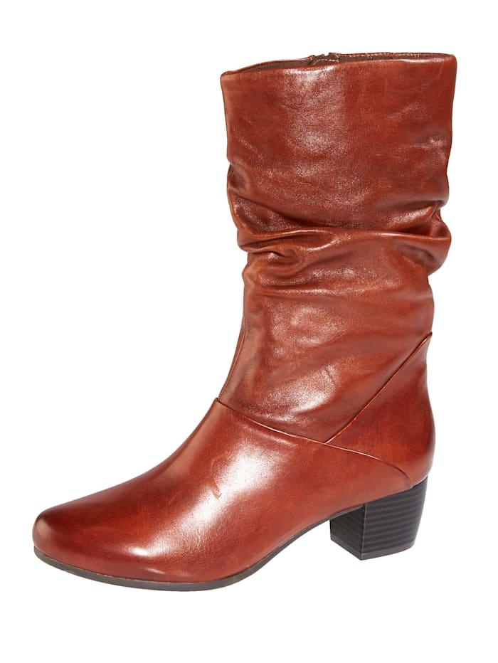 MONA Stiefelette aus hochwertigem Leder, Braun