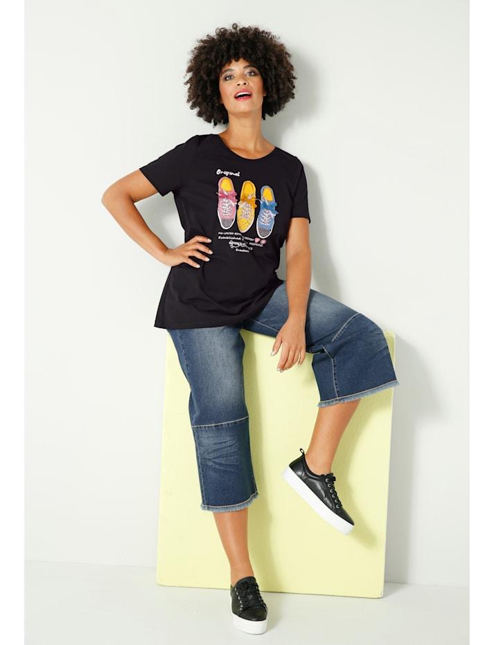 Shirt met sneakermotief