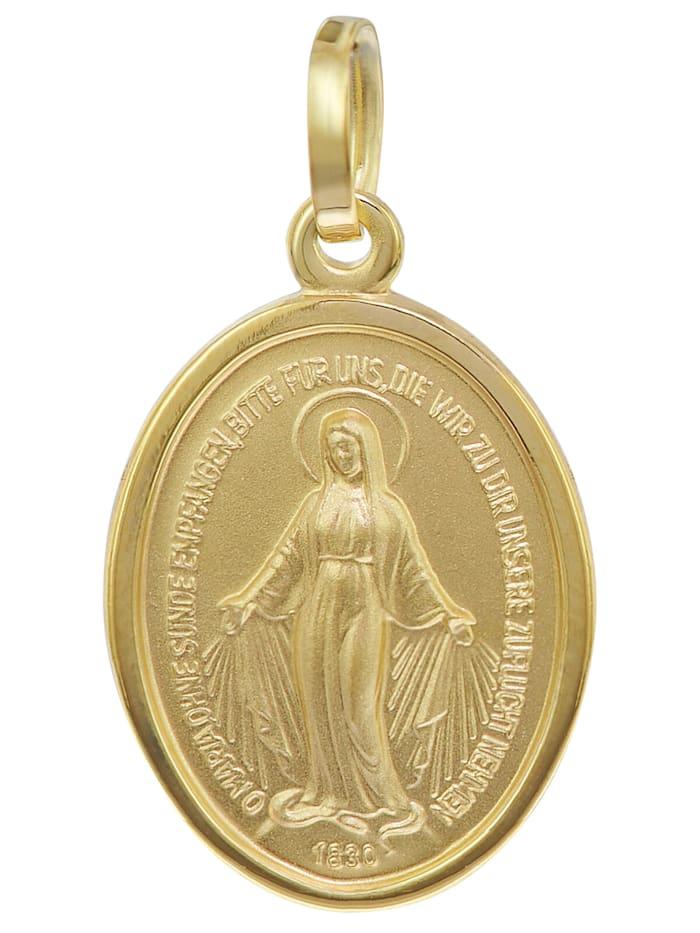 trendor Madonna Milagrosa Gold-Anhänger 8 Karat 16 mm, Goldfarben