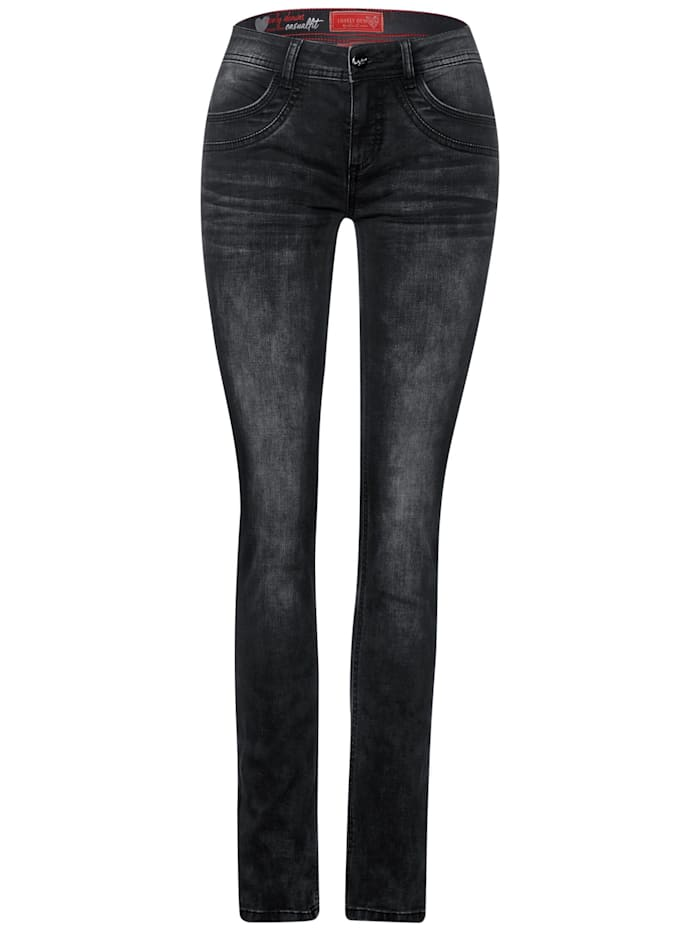 Street One Casual-Fit Denim, black authentic washed